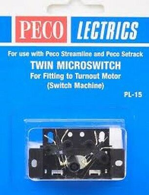 Peco Lectrics PL-15  Electric Twin Microswitch Kit  to fit Motor PL-10 New