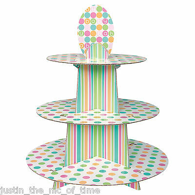 Baby Shower UNISEX Pastel Party Tableware Supplies Girls Boys CUPCAKE Stand