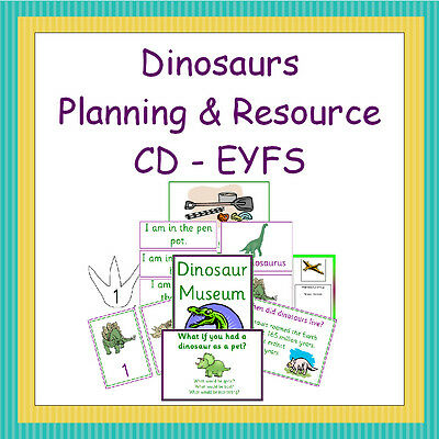 Dinosaurs Planning and Resource Pack on CD, EYFS, Reception, Teaching, Display