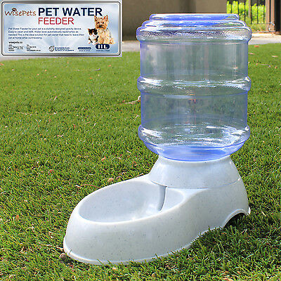 large automatic pet dog cat water feeder 11 liters bowl bottle dispenser plastic