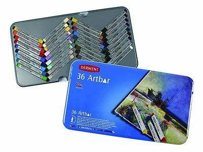 Derwent Artbar Water Soluble Colour, Metal Tin, 36 Count