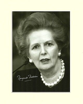 Margaret Thatcher Prime Minister Pp Mounted 8X10 Signed Autograph Photo