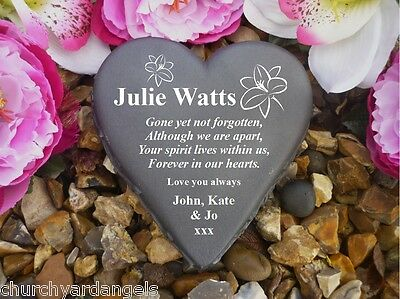 Heart Memorial - Personalised - Weatherproof - Lily