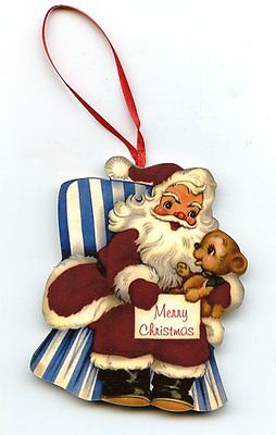 santa claus in rocking chair Christmas tree Ornament Decoration vintage style