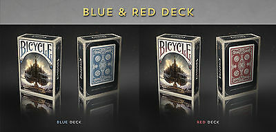 Set of 2 Bicycle Kingdom Of A New World Red & Blue Playing Cards Decks New