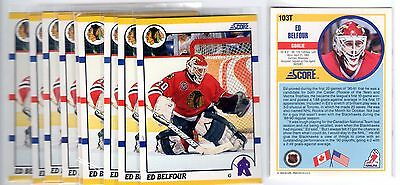 1X ED BELFOUR 1990-91 Score Traded #103T Rookie RC Lots Available MINT