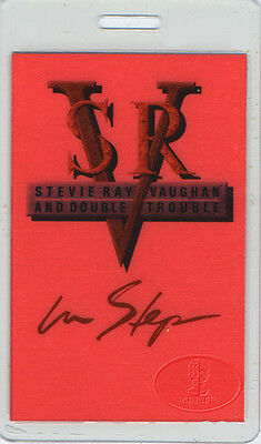 STEVIE RAY VAUGHAN 1989 LAMINATED BACKSTAGE PASS AA red