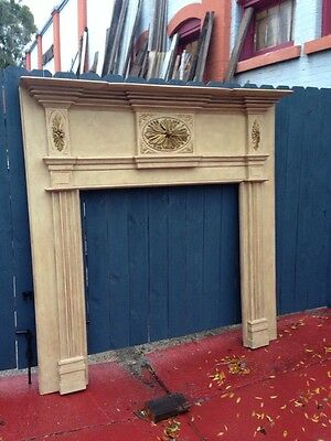 M103 Extra Large Fabulous. Carved Fireplace Mantel Or Headboard