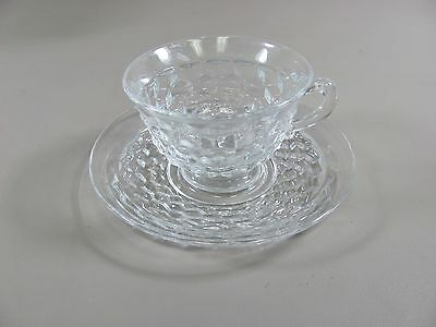 Fostoria AMERICAN-CLEAR Cup & Saucer Set(s) Multi Avail  Excellent