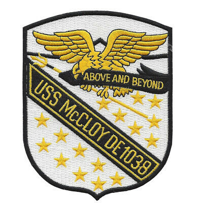 DE-1038 USS McCloy Destroyer Escort Ship Patch