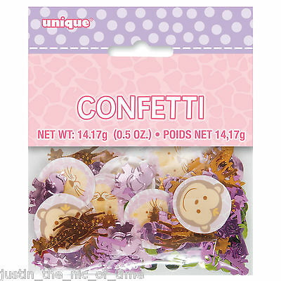 1st First Birthday Girl Pink Party Supplies Tableware Girls FOIL CONFETTI