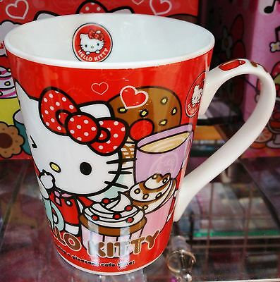 Rare Sanrio Hello Kitty Cute Red Ceramic Mug Cup Japan Only Limited + Gift Box