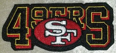 "San Francisco 49ers Name 3.5"" Iron On Embroidered Patch ~FREE Ship"