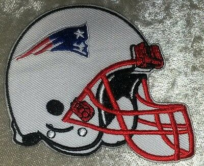 "New England Patriots Helmet  3.5"" Iron On Embroidered Patch ~USA Seller!"