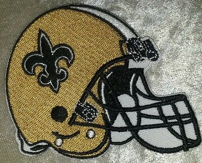 """New Orleans Saints 3.5"""" Helmet Iron On Embroidered Patch ~FREE Ship"""