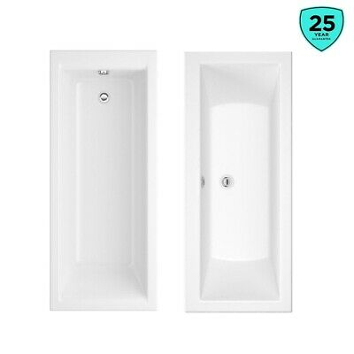 Modern Square Double Single Ended White Acrylic Bath Tub Bathroom 1500 1700mm