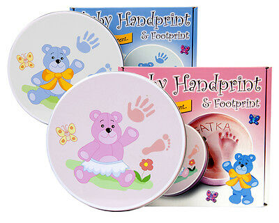 Baby Foot Print Hand Print Kit Clay Stamp Moulding Maternity Child Infant Gift