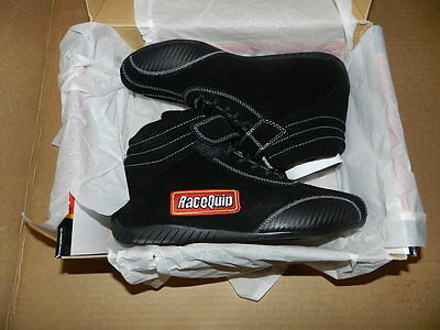 New RaceQuip 30500090 Euro Ankletop Racing Shoe. Black, size 9.0