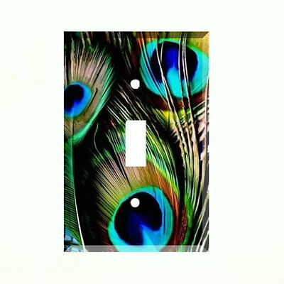 Peacock Single Light Switch Plate Wall Cover Room Decor