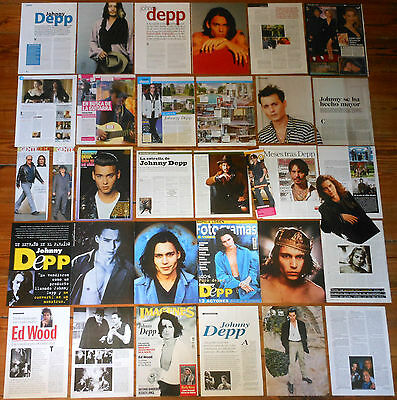 JOHNNY DEPP spanish clippings 1990s/10s magazine covers photos pictures