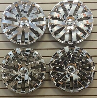 """NEW 16"""" CHROME Hubcaps Wheelcovers for 2010-2014 VW Volkswagon JETTA SET of 4"""