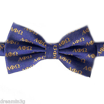 Alpha Phi Omega Letter Bow Tie (Pre-Tied) - Brand New Product!