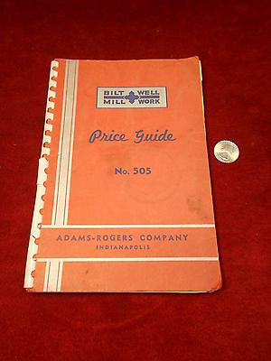 """NEAT OLDER VTG MID-CENTURY? """"BILT WELL MILL WORK"""" PRICE GUIDE No 505, INDY, INDY"""