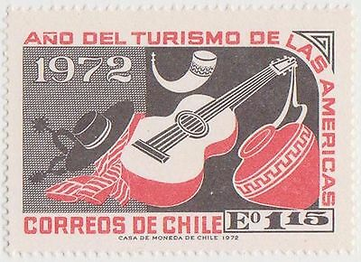(CH647) 1972 Chile 1E 15 black &red Folklore &handy crafts (A)