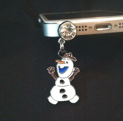 Frozen Snowman Olaf Disney Cell Phone Anti Dust Plug - US Seller