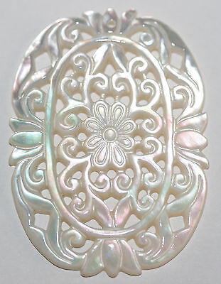AAA BIG Antique Design  Carved  MOP Pendant TOP Quality 45x35mm Mother Of Pearl