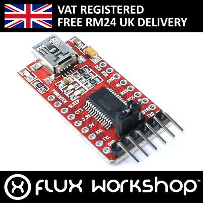 Serial Adapter Module FT232 FTDI USB TTL Arduino Pro Mini Breakout Flux Workshop