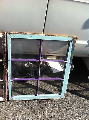 Vintage antique old wood window sashes 6 pane with glass Pinterest picture frame