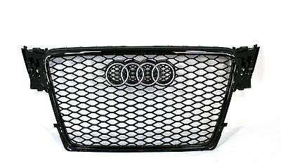 Audi A4 S4 B8 RS4 Style front grille gloss black titanium style 09 10 11 12