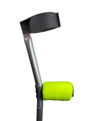 Crutch Handle Padded Covers HIGH QUALITY Cushioned Foam Pad - Fluorescent Yellow