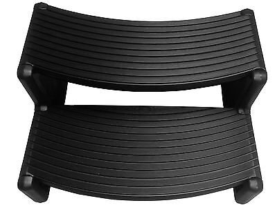 Grand Rapids Black Curved PVC Spa Steps