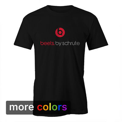 BEETS BY SCHRUTE Mens T-shirt, Dwight The Office Apparel Beet Farm Dr Dre Tee