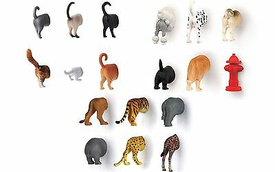 Kikkerland Butt Magnets Safari Animals Dog Cat
