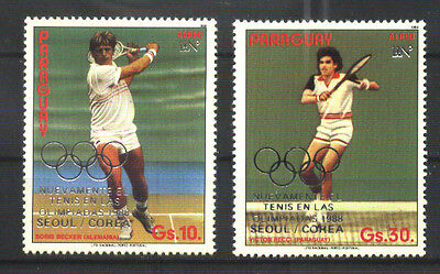 PARAGUAY 1987 SPORT TENNIS OLYMPIC GAMES Mi 4070-1 MNH