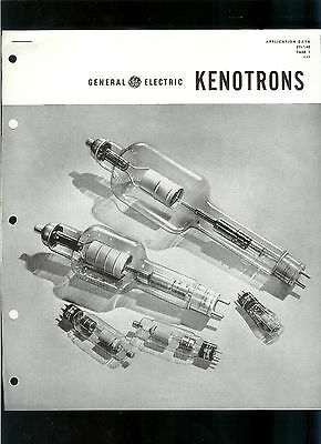 Rare Vintage 1946 GE Kenotrons Tubes Application Data Specifications Sheets