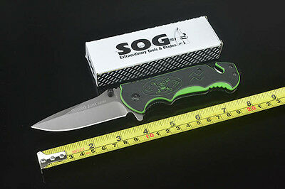 SOG Tactical Knife Assisted Opening Folding Saber Outdoor Hunting Camping k100AQ