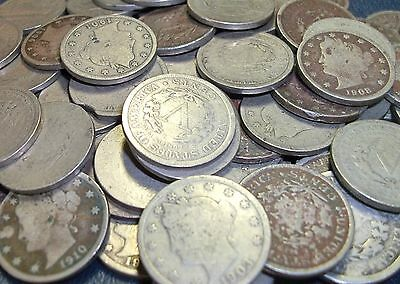 """1 Liberty """"V"""" Nickel Vintage Old Collectable Coins AG/CULL """"Type Coin Sale"""""""