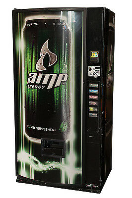 Dixie Narco 360MC Single Price Soda Vending Machine w/ Amp Energy Graphic