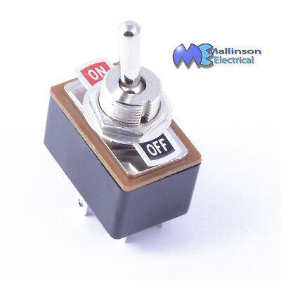 DPDT Chrome Toggle switch 3A 120vac 1.5A 250vac On-On