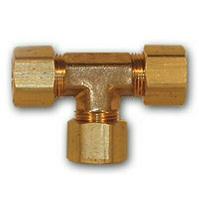 4 pcs 1/4 inch OD Compression Tee Brass soft copper Pipe Fitting NPT water fuel