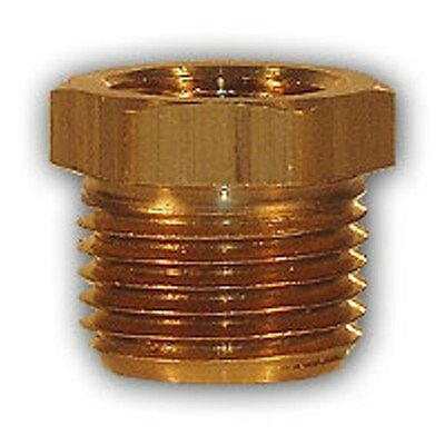3/8 x 1/8 inch HEX Bushing adapter Brass Pipe Fitting NPT air water gas fuel