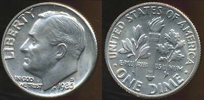 United States, 1980-D Dime, Roosevelt - Choice Uncirculated