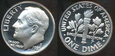 United States, 1985-S Dime, Roosevelt - Proof