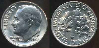 United States, 1985-P Dime, Roosevelt - Choice Uncirculated