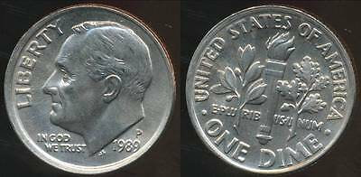 United States, 1989-P Dime, Roosevelt - Choice Uncirculated