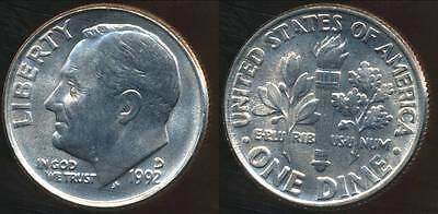 United States, 1992-D Dime, Roosevelt - Choice Uncirculated